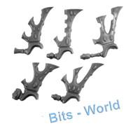 WARHAMMER 40K BITS - ELDAR WRAITHGUARD/BLADES - WARPVANES 5x