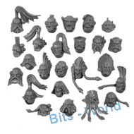 WARHAMMER 40K BITS - SPACE WOLVES SKYCLAWS - HEADS 24x