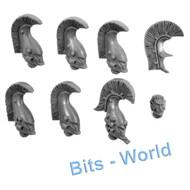 WARHAMMER 40K BITS: ELDAR DIRE AVENGERS - HEADS 7x