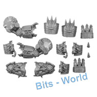 WARHAMMER 40K BITS: CHAOS SM HELBRUTE - POWER FIST W/BOLTERS & FLAMERS