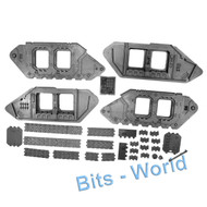 WARHAMMER 40K BITS: SPACE MARINES LAND RAIDER CRUSADER/REDEEMER - TANK TREADS 2x