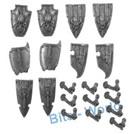 WARHAMMER BITS - VAMPIRE COUNTS GRAVE GUARD - SHIELDS with ARMS 10x