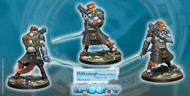 Infinity: Mercenaries - Tearlach McMurrough - 2 Chain Rifle  Templar CCW NEW