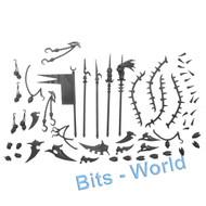 WARHAMMER 40K BITS - DARK ELDAR RAVAGER - SPIKES/BLADES/MISC