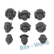 WARHAMMER 40K BITS: ASTRA MILITARUM CADIAN COMMAND SQUAD - HEADS 9X