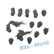 WARHAMMER 40K BITS: HARLEQUINS SKYWEAVERS - HEADS AND MASKS