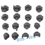 WARHAMMER 40K BITS: ASTRA MILITARUM CADIAN SHOCK TROOPS - HEADS 14X