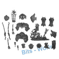 WARHAMMER/40K BITS - CHAOS DAEMON KHORNE BLOODTHIRSTER - ARMOR/FLAMES/ICONS/MISC