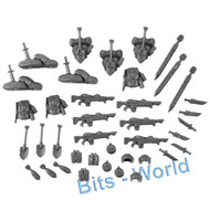 WARHAMMER 40K BITS: ASTRA MILITARUM CADIAN HEAVY WEAPONS - ORDINANCE/WEAP/BAGS
