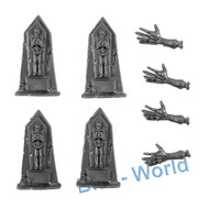 WARHAMMER BITS - VAMPIRE COUNTS ZOMBIES - GRAVE STONES 4x
