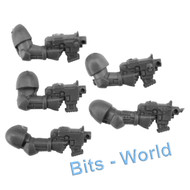 WARHAMMER 40K BITS: SPACE MARINES ASSAULT SQUAD - BOLTERS 5x