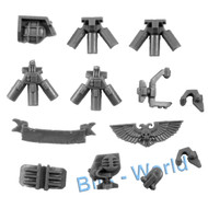 WARHAMMER 40K BITS: SPACE MARINES RHINO - SMOKE LAUNCHERS/RADAR/EXTRAS