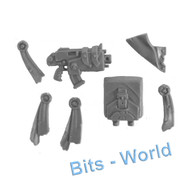 WARHAMMER 40K BITS: SPACE MARINES ATTACK BIKE - BACKPACK/BOLTER/MISC