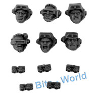 WARHAMMER 40K BITS: SPACE MARINES SCOUT SNIPER SQUAD - HEADS 6x