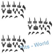 WARHAMMER 40K BITS: TYRANID CARNIFEX - ADRENAL GLANDS/TOXIN SACS/SPINES x3