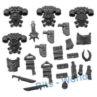 WARHAMMER 40K BITS: SPACE MARINES COMMAND SQUAD - PACKS 4x & SEALS/ICONS