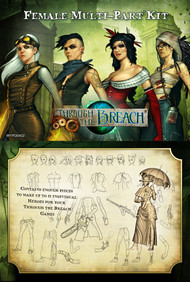 Wyrd: Through the Breach - Female Multi-Part Kit