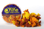 Gale Force Nine: Miniatures Tools: Hobby Round Autumn 3 Color Clump Foliage Mix