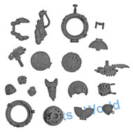 WARHAMMER 40K BITS: CHAOS SM CHAOS VINDICATOR - MARINE WITH COMBI-BOLTER/HATCHES/FLAMER