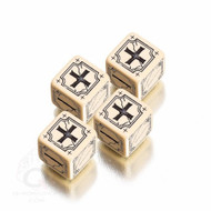 Q-Workshop: Antique Fudge Dice Set Beige/Black (4)