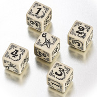 Q-Workshop: Arkham Horror Dice Set Beige/Black (5)