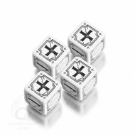 Q-Workshop: Antique Fudge Dice Set White/Black  (4)