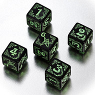Q-Workshop: Arkham Horror Dice Set Black/Green (5)