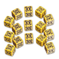 Q-Workshop: Battle Dice Set Sniper D6 Yellow/Black (15)