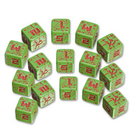 Q-Workshop: Battle Dice Set Soviet D6 Green/Red (15)