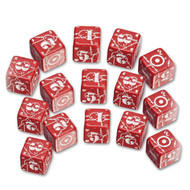 Q-Workshop: Battle Dice Set United Kingdom D6 Red/White (15)