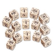 Q-Workshop: Battle Dice Set USA D6 Beige/Black (15)