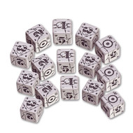 Q-Workshop: Battle Dice Set United Kingdom D6 Gray/Black (15)