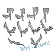 WARHAMMER BITS: ORCS & GOBLINS ORRUK BRUTES - BRUTE CHOPPAS x10