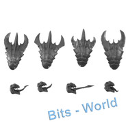 WARHAMMER 40K BITS: TYRANID WARRIORS - HEADS 4x