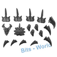 WARHAMMER 40K BITS: TYRANID CARNIFEX - ADRENAL GLANDS/TOXIN SACS/SPINES