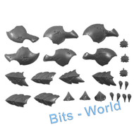 WARHAMMER 40K BITS - TYRANID HIVE GUARD - ARMOR SHIELDING/BIOMORPHS