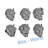 WARHAMMER 40K BITS: SPACE MARINES SCOUT SQUAD - HEADS x6