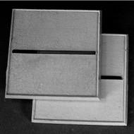 "Reaper Miniatures: Accessories: 2"" Square Metal Base, Horizontal Slot (2)"