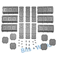 WARHAMMER 40K BITS: TERRAIN ARMOURED CONTAINERS - ARMORED CONTAINERS x3