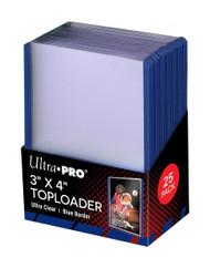 """Ultra PRO: 3"""" X 4"""" Blue Border Toploader (25)"""