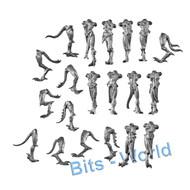 WARHAMMER/40K BITS: CHAOS DAEMONS DAEMONETTES OF SLAANESH - BODIES X10