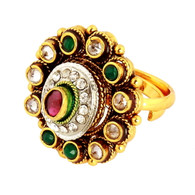 1 Gram Gold Kundan Ring 1