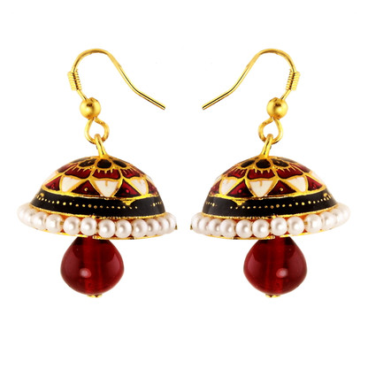 1 Gram Gold Enamel Earrings 11