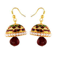 1 Gram Gold Enamel Earrings 13
