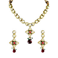 1 Gram Gold Kundan Necklace Set