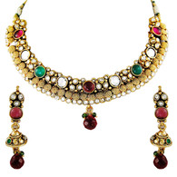 1 Gram Gold Kundan Necklace Set 3