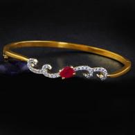 1 Gram Gold American Diamond Bracelet 4