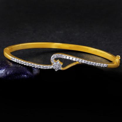 1 Gram Gold American Diamond Bracelet 10