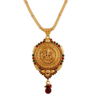1 Gram Gold Temple Necklace 3