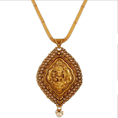 1 Gram Gold Temple Necklace 5